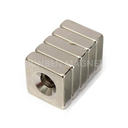 Powerful Suqare Rare Earth Neodymium Magnets 15x15mm with 5mm countersunk Hole