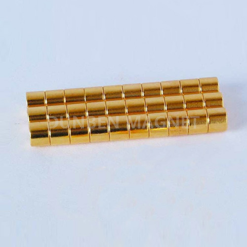 super disc neodymium magnet with golden coating D6* 6 mm
