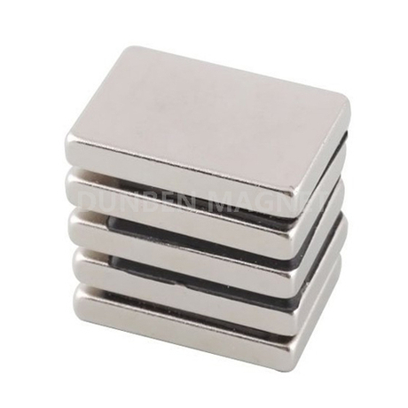 NdFeB Block Strong Magnets N52 30 x 20 x 5 mm Nickel Coating