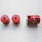 Powerful Alnico Button Magnets, AlNiCo round magnet with groove and bore, red coated