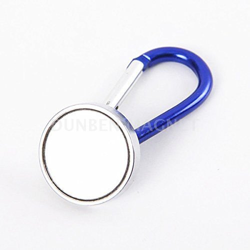 Powerful Neodymium Magnetic Carabiner Hook with Lock,Portable Magnetic Carabiner Holder,Portable Magnetic Fast Hanging Buckle Key Ring Holder Clip Outdoor Chain Cable Carabiner