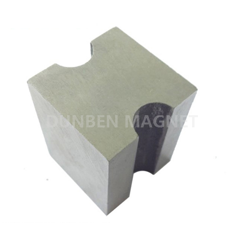 Customized block cast alnico permanent magnets with semicircle for liquid magnetic separator