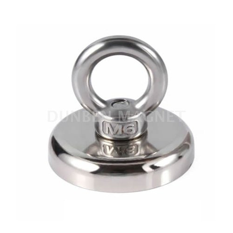 Super Strong Fishing Ring Eyebolt Clamping Magnet,Super Strong Neodymium Hook Salvage Eyebolt Cup Magnet,Metal Detector Recovering Permanent Eyebolt Ring Magnet,Finder Hunting Fishing Salvage Magnet