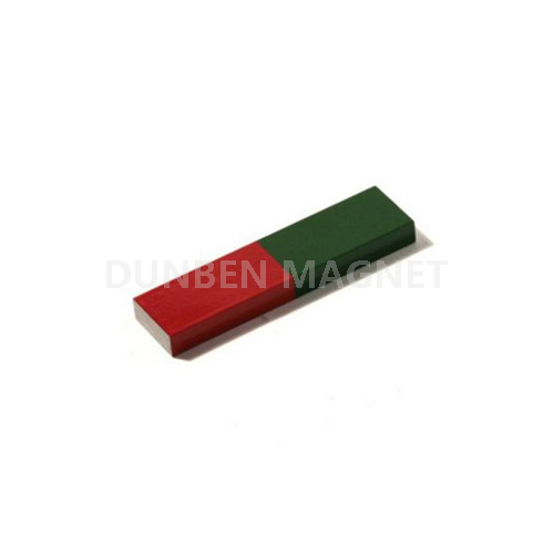 Red painted magnets School Education Permanent AlNiCo Magnet
